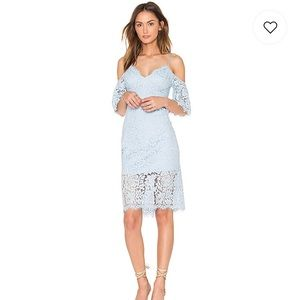Karlie Lace Dress in Sky Blue